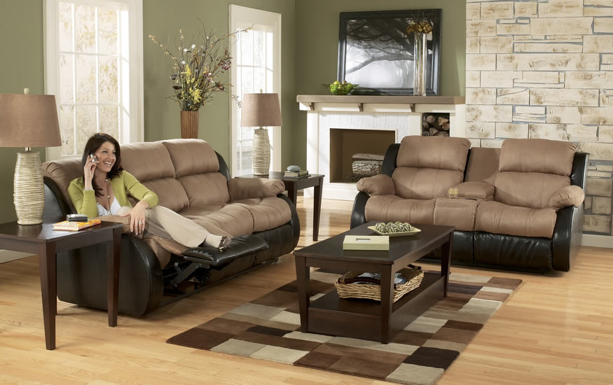 A loveseat recliner is not what it appears to be
