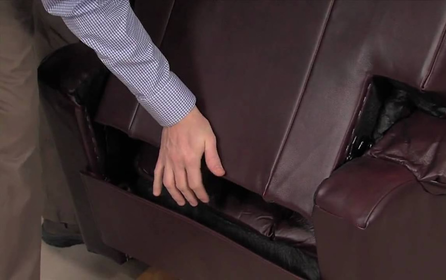 How to remove loveseat recliner back