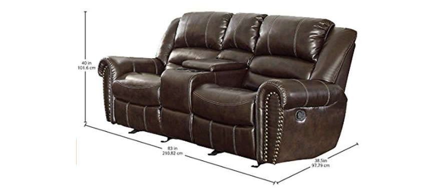 homelegance double glider reclining loveseat